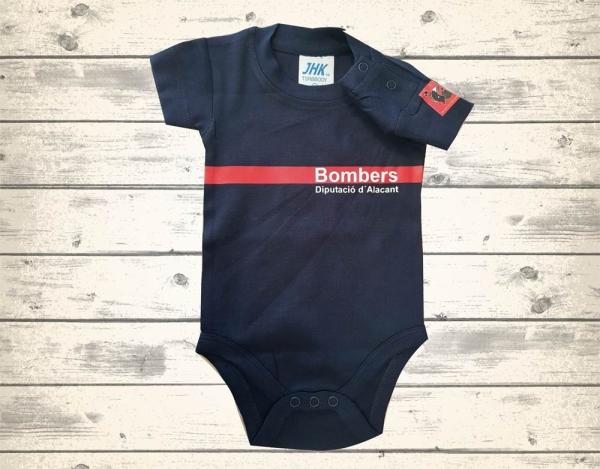 Body bebé cuerpo bomberos Alicante
